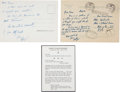 "Autographs:Statesmen, Robert F. Kennedy Two Autograph Letters Signed ""Bobby.""...(Total: 3 Items)"
