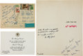 "Autographs:Statesmen, Robert F. Kennedy Autograph Letter Signed ""Bobby"" withaccompanying card.... (Total: 3 Items)"