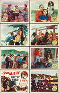 """Movie Posters:Western, Melody Trail (Republic, 1935). Lobby Card Set of 8 (11"""" X 14"""").. ... (Total: 8 Items)"""