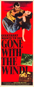 """Movie Posters:Academy Award Winners, Gone with the Wind (MGM, R-1947). Insert (14"""" X 36"""").. ..."""