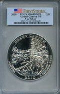 Modern Bullion Coins, 2010 25C Grand Canyon National Park Five Ounce Silver First StrikeMS68 Deep Mirror Prooflike PCGS. PCGS Population (677/95...