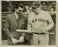 Autographs:Photos, 1931 Babe Ruth Signed Photograph....