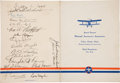 Autographs:Celebrities, [Early Aviation]. Orville Wright, Eddie Rickenbacker, AnthonyFokker, et al. Signed Program for the National Aeronautic Asso...