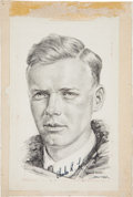 Autographs:Celebrities, Charles Lindbergh Signed Portrait Print....