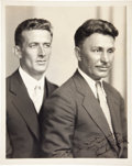 Autographs:Celebrities, Wiley Post and Harold Gatty Signed Photograph....