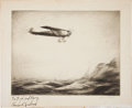 Autographs:Celebrities, Charles Lindbergh Signed Print by Levon West....