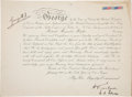 "Autographs:Non-American, George V Honorary Military Appointment Signed ""George R. I.""with a Royal Air Force identification bracelet...."