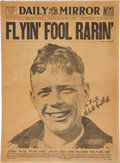 Autographs:Celebrities, Charles Lindbergh Signed Front Page....