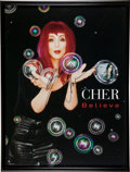 "Movie/TV Memorabilia:Autographs and Signed Items, A Cher Autographed ""Believe"" Poster...."