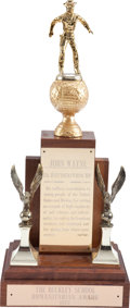 Movie/TV Memorabilia:Memorabilia, A John Wayne Award, 1972.. ...