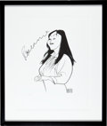 Movie/TV Memorabilia:Memorabilia, A Roseanne (Barr) Limited Edition Print by Al Hirschfeld, CircaLate 1990s....