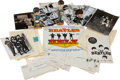 Music Memorabilia:Memorabilia, Superb Collection of Original Beatles Memorabilia from their August20, 1965, Performance in Chicago, including Two Pillowcase...(Total: 22 Items)