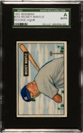 Baseball Cards:Singles (1950-1959), 1951 Bowman Mickey Mantle #253 SGC Authentic. ...