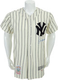 Autographs:Jerseys, 1997 Joe DiMaggio Signed Limited Edition Jersey, PSA/DNA Mint 9...