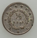 Colombia, Colombia: Bogota 1/2 Real 1842-1847 Quartet,... (Total: 4 coins)