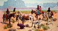 Paintings, R. BROWNELL MCGREW (American, 1916-1994). Children of the Sun, 1989. Oil on board. 36 x 66 inches (91.4 x 167.6 cm). Sig...