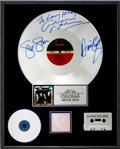 Music Memorabilia:Awards, Crosby, Stills, Nash & Young Signed American Dream RIAAPlatinum Album Award....