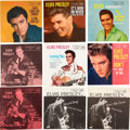 Music Memorabilia:Recordings, Elvis Presley Picture Sleeve Group of 15 (RCA, 1956-69).... (Total:15 Items)