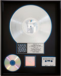 Music Memorabilia:Awards, Rolling Stones Steel Wheels RIAA Platinum Album Award....