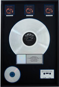 Music Memorabilia:Awards, Beatles Related - Paul McCartney & Wings Band on the RunRIAA Multi-Platinum Album Award....