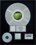 Music Memorabilia:Awards, The Beatles RIAA Platinum Album Award....