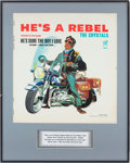 Music Memorabilia:Posters, The Crystals He's a Rebel Album Slick, Phil Spector'sPersonal Copy....