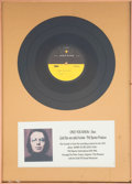 """Music Memorabilia:Recordings, Dion """"Only You Know"""" Rare Acetate Display...."""