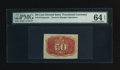 Fractional Currency:Second Issue, Fr. 1314SP 50¢ Second Issue Narrow Margin Back PMG Choice Uncirculated 64 EPQ.. ...