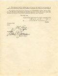 Movie/TV Memorabilia:Documents, Darryl Zanuck Signed Options Agreement. ...