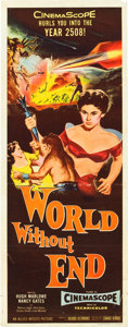 "Movie Posters:Science Fiction, World Without End (Allied Artists, 1956). Insert (14"" X 36"").. ..."