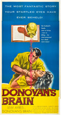 "Movie Posters:Science Fiction, Donovan's Brain (United Artists, 1953). Three Sheet (41"" X 81""). Science Fiction.. ..."