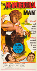 "Movie Posters:Horror, The Neanderthal Man (United Artists, 1953). Three Sheet (41"" X 81"").. ..."