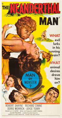 "The Neanderthal Man (United Artists, 1953). Three Sheet (41"" X 81"")"