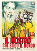 "Movie Posters:Science Fiction, The Monster that Challenged the World (Atlantis Films, 1957).Italian 2 - Foglio (39"" X 55"").. ..."