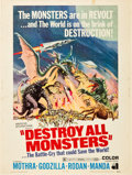 """Movie Posters:Science Fiction, Destroy All Monsters (American International, 1969). Poster (30"""" X40""""). .. ..."""