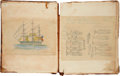 Books:Manuscripts, [Herman Melville]. Ship Acushnet Whaling Journal Kept by W.Bowles Cooper, spanning the period July 18, 1845 thr...