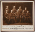 Autographs:U.S. Presidents, William H. Taft Supreme Court Photograph Signed by All NineJustices, ca. 1921, shortly after President Warren Hardinga...