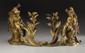 Decorative Arts, French:Other , A PAIR OF LOUIS XVTH-STYLE GILT BRONZE FIGURAL ANDIRONS. Late 19thCentury. 16-1/2 inches (41.9 cm) high, each. ... (Total: 2 Items)