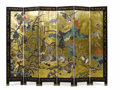 Asian:Chinese, An Asian Coromandel Screen. Unknown maker, Asian. Circa 1820.Lacquer with paint and gilt. Unmarked. 72 inches high x 96 i...