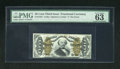"""Fractional Currency:Third Issue, Fr. 1334 50c Third Issue Spinner PMG Choice Uncirculated 63EPQ. A boldly printed example of this tougher variety with """"a"""" on..."""