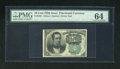 Fractional Currency:Fifth Issue, Fr. 1264 10c Fifth Issue PMG Choice Uncirculated 64. A very wellmargined example of this much scarcer green seal Meredith n...