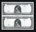 """Miscellaneous:Other, American Bank Note Company Specimen Uncut Pair $10 Series 1929.This is an uncut pair of the ABNCo """"1929"""" specimens. Gem C..."""