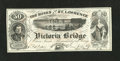 """Canadian Currency: , Montreal, PQ- Banks of the St. Lawrence 50 Views circa 1860s. This is a great advertising note that plays on the word """"Banks..."""