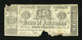Obsoletes By State:Arkansas, (Little Rock,) AR- State of Arkansas $3 Sep. 24, 1864 Criswell 42a. This example is of the variety without the back printing...