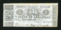 Obsoletes By State:Arkansas, (Little Rock,) AR- State of Arkansas $5 May 30, 1864 Criswell 50. This type has a red back overprint on blue paper. Minor ed...