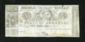 Obsoletes By State:Arkansas, (Little Rock,) AR- State of Arkansas $10 Nov. 7, 1864 Criswell 56c. An approximate one-fourth inch tear is noticed on this b...
