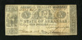 Obsoletes By State:Arkansas, (Little Rock,) AR- State of Arkansas $10 May 12, 1863 Criswell 58b. This note was printed on a bill of exchange and it has a...