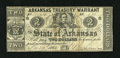 Obsoletes By State:Arkansas, (Little Rock,) AR- State of Arkansas $2 Nov. 29, 1862 Criswell 40a. This type is printed on the back of a bill exchange. The...