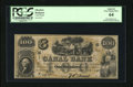 Obsoletes By State:Louisiana, New Orleans, LA- Canal Bank $100 18__. This is an interesting remainder that has been falsely filled in with a serial number...