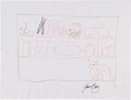 Music Memorabilia:Autographs and Signed Items, Joan Baez: Musician's Doodle for Hunger Benefiting St.Francis Food Pantries and Shelters. ...